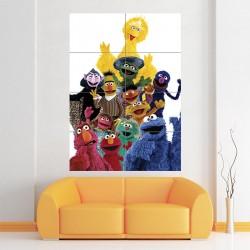 โปสเตอร์ ขนาดใหญ่ Sesame Street Characters Muppets (P-0940)