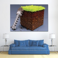 Minecraft Game Block Giant Wall Art Poster (P-0945)