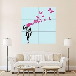 โปสเตอร์ ขนาดใหญ่ Butterfly Suicide Banksy (P-0947)
