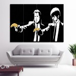 Banksy Pulp Fiction Block Giant Wall Art Poster