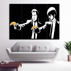 Banksy Pulp Fiction Block Giant Wall Art Poster (P-0948)