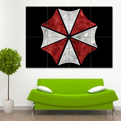 Umbrella Corporation Resident Evil Block Giant Wall Art Poster (P-0955)
