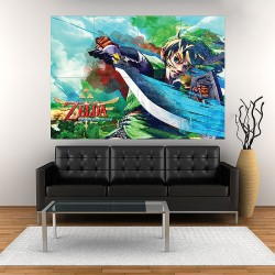 โปสเตอร์ ขนาดใหญ่ Zelda Skyward Sword Video Game (P-0960)