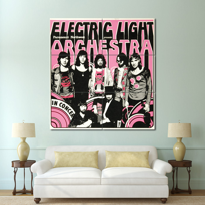 Electric Light Orchestra Block Giant Wall Art Poster