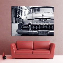 Desoto Havana Cuba Car Block Giant Wall Art Poster (P-0965)