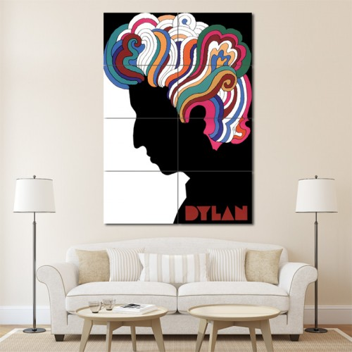 Bob Dylan Block Giant Wall Art Poster