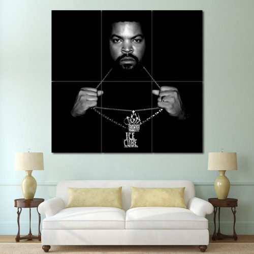 โปสเตอร์ ขนาดใหญ่ นักร้อง Ice Cube Rapper Hip Hop