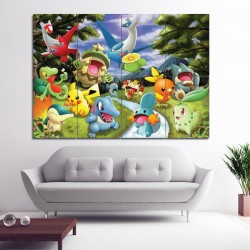 Pokemon Cartoon Wand-Kunstdruck Riesenposter (P-0988)