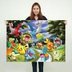 โปสเตอร์ ขนาดใหญ่ ภาพการ์ตูน Pokemon Cartoon โปเกม่อน