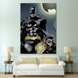 Batman and Robin Colors Block Giant Wall Art Poster (P-0999)