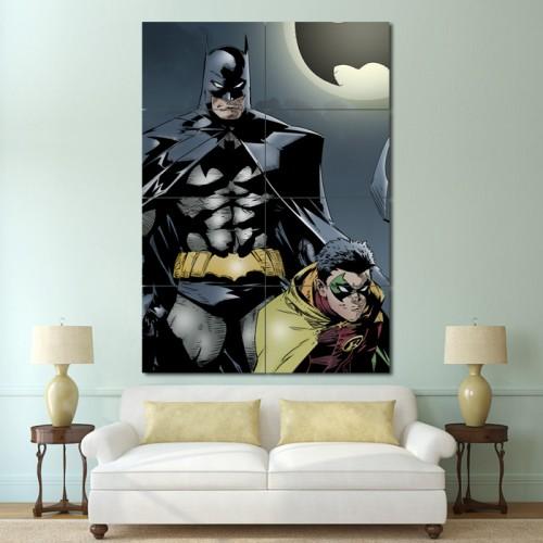 โปสเตอร์ ขนาดใหญ่ การ์ตูน Batman and Robin แบทแมน โรบิน