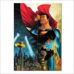โปสเตอร์ ขนาดใหญ่ การ์ตูนซุปเปอร์แมน แบทแมน Superman Batman
