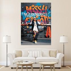 โปสเตอร์ ขนาดใหญ่ ภาพ มิสซี เอลเลียต Missy Elliott Graffiti  (P-1030)