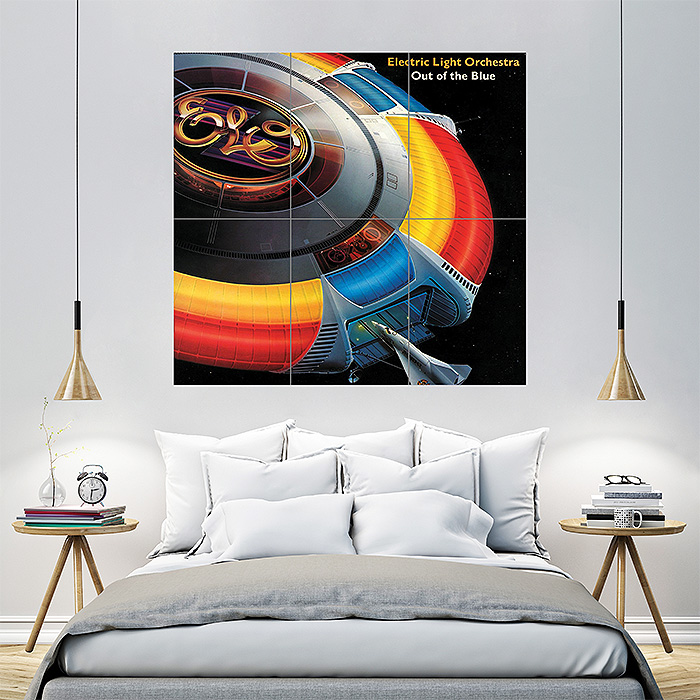 ELO Electric Light Orchestra Block Giant Wall Art Poster