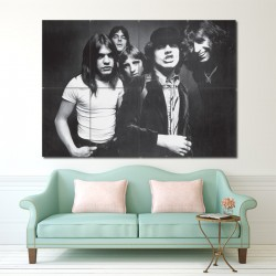 Ac dc Rock Music Band Block Giant Wall Art Poster (P-1035)