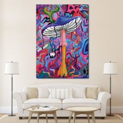 Psychedelic Mushroom Block Giant Wall Art Poster (P-1036)