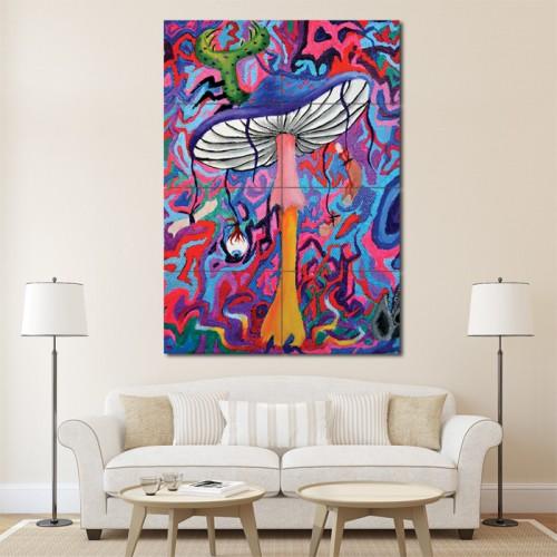 โปสเตอร์ ขนาดใหญ่ ภาพศิลปะ Psychedelic Mushroom Trippy