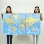 World Map #3  Block Giant Wall Art Poster