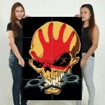 โปสเตอร์ ขนาดใหญ่ วงดนตรี Five Finger Death Punch