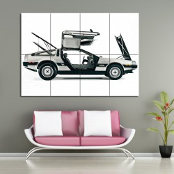 Back to the Future DeLorean DMC-12  Block Giant Wall Art Poster (P-1053)