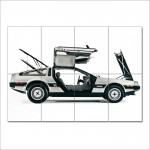 Back to the Future DeLorean DMC-12  Block Giant Wall  Poster