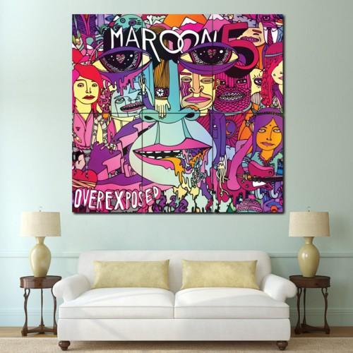 โปสเตอร์ ขนาดใหญ่ วงดนตรี Maroon 5 Overexposed