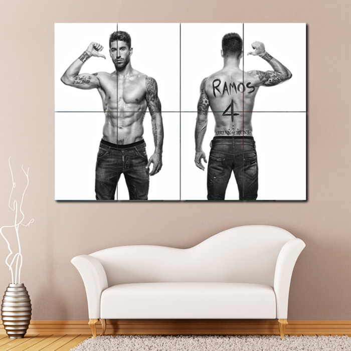 Sergio Ramos Football Giant Wall Art Poster Print