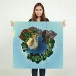 โปสเตอร์ ขนาดใหญ่ เกมส์ Minecraft Mineplanet เกมส์มายคราฟ
