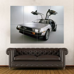The Delorean EV  Back to the Future Block Giant Wall Art Poster (P-1065)