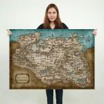 โปสเตอร์ ขนาดใหญ่  เกมส์ The Elder Scrolls Skyrim Map