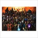 โปสเตอร์ ขนาดใหญ่ เกมส์ Mortal Kombat Armageddon มอร์ทัล คอมแบท