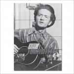 โปสเตอร์ ขนาดใหญ่ นักร้อง Woody Guthrie