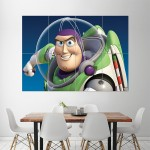 Buzz Lightyear Toy Story  Block Giant Wall Art Poster