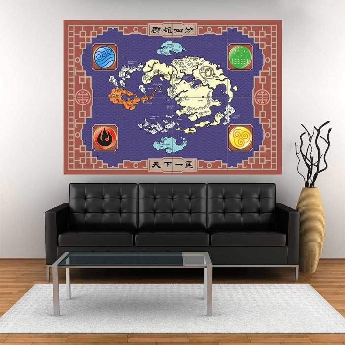 Avatar Der Herr der Elemente Map Wand-Kunstdruck Riesenposter