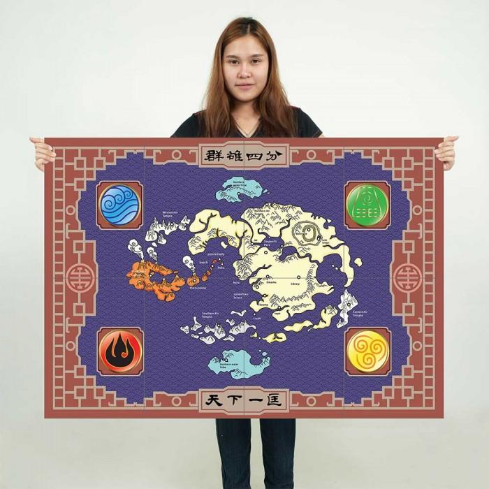 Avatar Der Herr Der Elemente Map Wand Kunstdruck Riesenposter