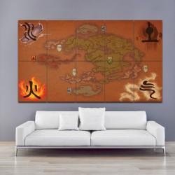 โปสเตอร์ ขนาดใหญ่ แผนที่ Avatar The Last Airbender Map (P-1099)