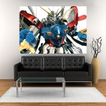 Anime Gundam Block Giant Wall Art Poster