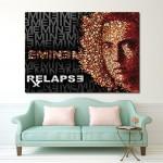 โปสเตอร์ ขนาดใหญ่ นักร้อง Eminem Relapse
