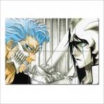 โปสเตอร์ ขนาดใหญ่ การ์ตูนอนิเมะ Grimmjow VS Ulquiorra Bleach