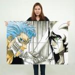 Grimmjow VS Ulquiorra Bleach Anime Kunstdruck Riesenposter