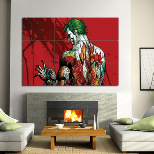 Batman Joker Tattoo Wand-Kunstdruck Riesenposter