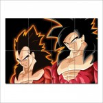 โปสเตอร์ ขนาดใหญ่ การ์ตูน ดราก้อนบอล  Goku & Vegeta Super Saiyan