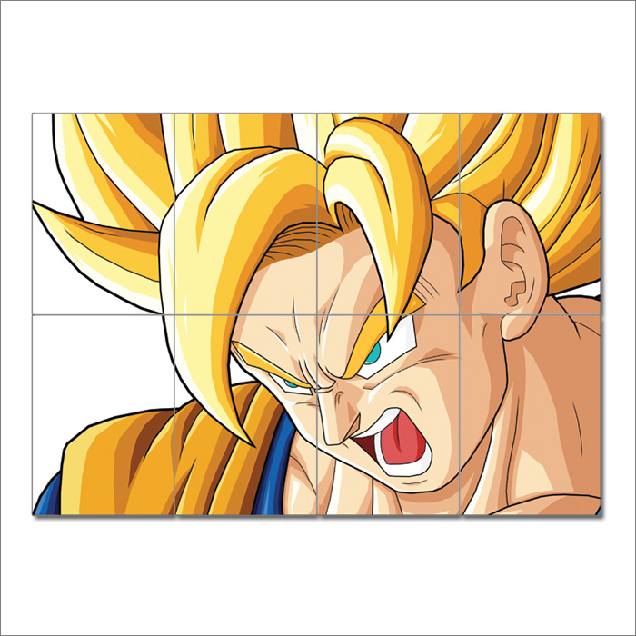 Dragon Ball Z Goku Super Saiyan Block Giant Wall Art Poster