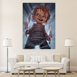 Chucky Childs Play Horror Block Giant Wall Art Poster (P-1169)