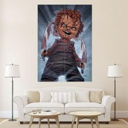 โปสเตอร์ ขนาดใหญ่ ภาพยนต์ Chucky Childs Play Horror (P-1169)