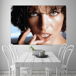 Mila Jovovich Huge Block Giant Wall Art Poster (P-1184)