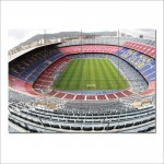 Barcelona FC Camp Nou Stadium Block Giant Wall Art Poster