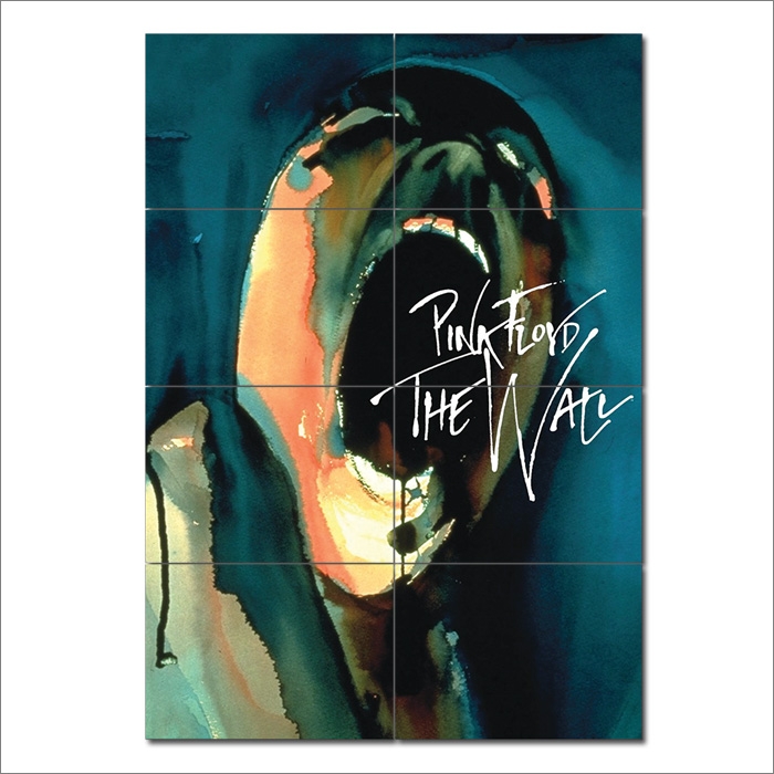 The Wall Pink Floyd: Pink Floyd The Wall Block Giant Wall Art Poster