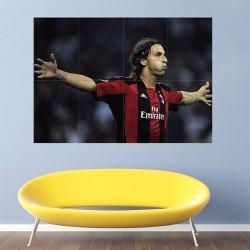 โปสเตอร์ ขนาดใหญ่  Zlatan Ibrahimovic AC Milan Football (P-1236)