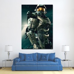 Halo Master Chief Block Giant Wall Art Poster (P-1273)